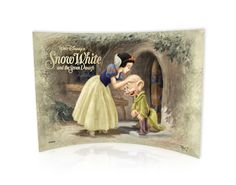 Snow White and the 7 Dwarfs (Dopey Kiss) Graphic Art Plaque