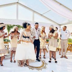 and serving us love goals. Swipe left and see the love birds singing to each other. South African Traditional Dresses, African Traditional Wedding Dress, Traditional Weddings, Seshweshwe Dresses, Bridal Dresses, African Attire, African Outfits, African Wear, African Style
