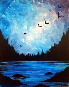 Check out Epic Northwestern Sky at Heathen Brewing Feral Public House - Paint Nite Pour Painting, Diy Painting, Easy Paintings, Beautiful Paintings, Pastel Art, Painting Inspiration, Watercolor Paintings, Art Drawings, Art Projects