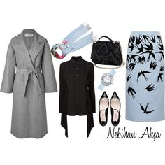 A fashion look from October 2015 featuring Valentino coats, Yohji Yamamoto jackets et Rochas skirts. Browse and shop related looks.