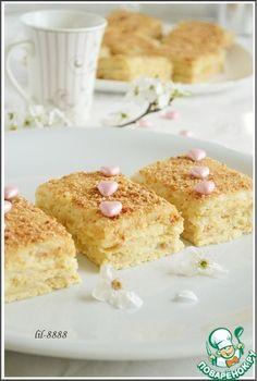 Нежное пирожное с карамельным кремомрецепты с пошаговыми фотографиями процесса приготовления.