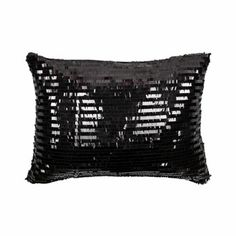 Black Sequins Cushion Cover