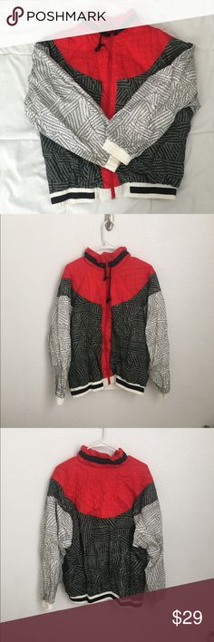 Bold Spirit Vintage Windbreaker Vintage windbreaker. Stand out piece. Can be worn oversized for those who are a size S/M Bold Spirit Jackets & Coats
