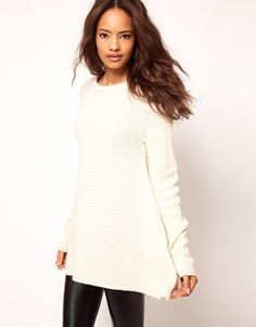ASOS Jumper With Trapeze Hem