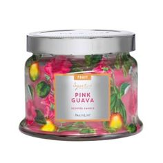 I am in love with this seasonal scent! Smells and burns amazingly. #PartyLite #Lisa4Candles #PinkGuava