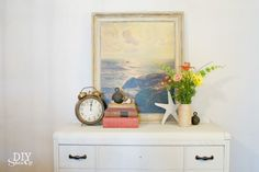 Coastal Chic Painted Furniture Makeover