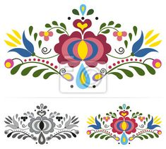 "Embroidery Folk Embroidery ""Colored slovak folk ornaments"" Stock image and royalty-free vector files on - Pic Embroidery ""Colored slovak folk ornaments"" Stock image and royalty-free vector files on - Pic 112714967 Hungarian Embroidery, Folk Embroidery, Learn Embroidery, Embroidery Stitches, Embroidery Patterns, Machine Embroidery, Chain Stitch, Cross Stitch, Polish Folk Art"