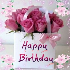 Find the most Beautiful Happy Birthday Flowers HD Images list for your special someone's birthday, You can send some cute Birthday Flowers For Her/him. Happy Birthday Bouquet, Birthday Wishes Greetings, Happy Birthday Wishes Images, Happy Birthday Celebration, Birthday Wishes Messages, Birthday Blessings, Happy Birthday Pictures, Happy Birthday Cards, Gift Flowers