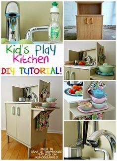 How To Transform A Microwave Stand Into A Kids Play Kitchen