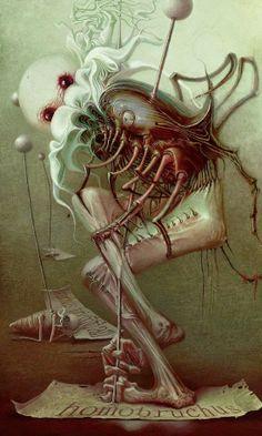 As sombrias, bizarras e macabras criaturas das ilustrações de Alexandr Kumpan
