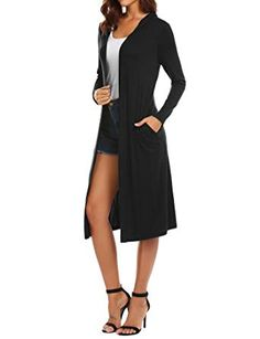 New Beyove Women s Long Sleeve Waterfall Hoodies Open Front Maxi Cardigan  Sweater online.  78cb03544