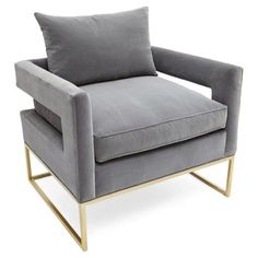 Colors/texture example...grey and brass, great looking.  Holt Occasional Chair