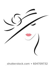 Similar Images, Stock Photos & Vectors of Beautiful Woman in hat. Pretty Drawings, Art Drawings, Eye Expressions, Krishna, Custom Stencils, Figure Sketching, Painting Of Girl, Painting Videos, Illustration Girl
