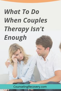 By the time people seek marriage counseling, they're usually in crisis. When the relationship becomes problematic, the average couple still waits seven years before seeking help (according to The Gottman Institute). Coupels therapy is a cirtical step in creating change but sometimes, it takes more and that' okay. Find out what here! #couples #relationships #marriage