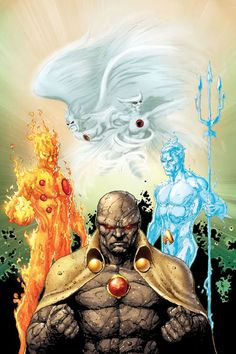 Elemental Heroes - Firestorm, Aquaman, Hawkman, Hawkgirl and Martian Manhunter