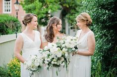 Stunning and traditional: http://www.stylemepretty.com/2015/07/06/all-chic-all-white-bridal-party-inspiration/