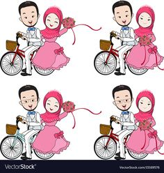 Find Muslim Wedding Cartoon Bride Groom Riding stock images in HD and millions of other royalty-free stock photos, illustrations and vectors in the Shutterstock collection. Thousands of new, high-quality pictures added every day. Bride And Groom Cartoon, Wedding Couple Cartoon, Fun Wedding Invitations, Wedding Invitation Templates, Muslim Wedding Cards, Wedding Caricature, Diy Wedding Food, Wedding Decorations, Muslimah Wedding