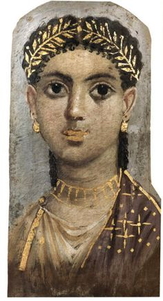 (Egypt) Fayum Mummy Portrait is the name given to a large number of paintings from the 1st to 3rd century CE. The surviving paintings are predominantly from the Fayum region in Roman Egypt