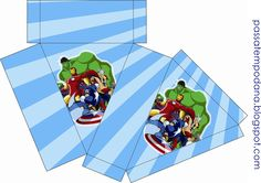 Free Printables Boxes of the Avengers. Oh My Fiesta, Free Printables, Avengers, Birthdays, Bolo Fake, Box Templates, Party Ideas, Tic Tac, Hulk