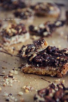 candy016 Crackers Candy (crackers graham, caramel beurre salé, chocolat noir, noix de pécan & cacahuète)