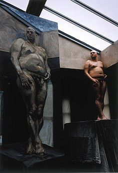 lucien freud - leigh bowery posing by eumenades, via Flickr