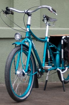 Teal Surly Big Dummy cargo bike
