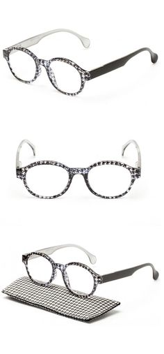 The Preppy: a classic round shape with a houndstooth print | Readers.com
