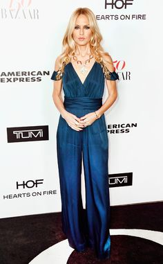 Rachel Zoe from Harper's Bazaar's 150 Most Fashionable Women Event  The fashion designer wears a romantic sapphire gown.