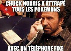 Chuck Norris, le roi de Pokémon Go. Lol.