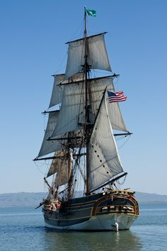 Lady Washington with all sails set. #travel #adventure #sailing http://historicalseaport.org/