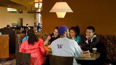 "Students dining at ""The 8"" at McMahon Hall."