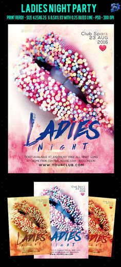 Ladies Night Party Flyer Template PSD. Download here: https://graphicriver.net/item/ladies-night-party-flyer-/17397865?ref=ksioks