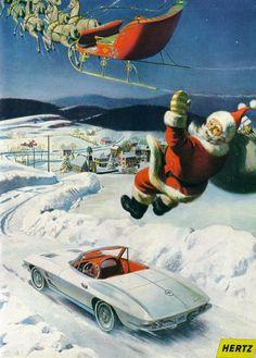 1968 Hertz Corvette ad