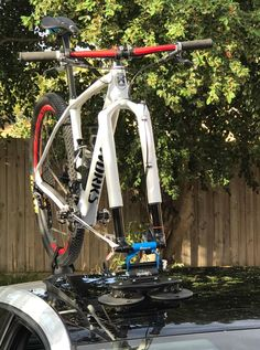 Looking for a VW Golf GTI Bike Rack? Does your car have a Panoramic Roof? Check out our Customer's Car with a SeaSucker Talon Rack mounted on his Panoramic Roof. Mountain Bike Brands, Mountain Biking, Bike Rack, Vw, Gym Equipment, Bicycle, Golf, Ideas, Bicycles