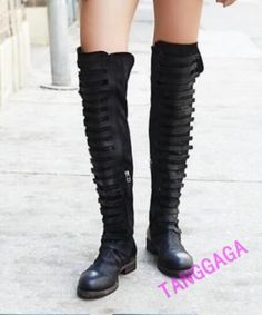 Vintage-Luxury-Womens-Unique-Long-Genuine-Leather-Thigh-Riding-Knee-High-Boots