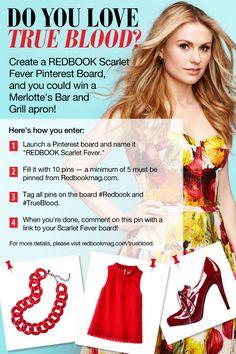Redbook Scarlet Fever pinterest contest #promotionexamples