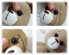 Connection 50 4 rows in n 16 sb pr 2 sb pr x 6 times 14 sb pr connection 58 orange thread 5 rows in n 58 concave relief columns Head (skin color) 1 row - 6 sbn in the ring amigurumi 2 rows - 6 pr 3 rd - (sb, pr) x 6 tim 8 Tips For Crochet Beginners - Salv Crochet Teddy Bear Pattern, Crochet Baby Toys, Crochet Amigurumi Free Patterns, Crochet Doll Clothes, Crochet Bear, Crochet Doll Pattern, Crochet Dolls, Maya, Stuffed Toys Patterns