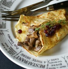 Mushroom Cheese Crepes. Try.