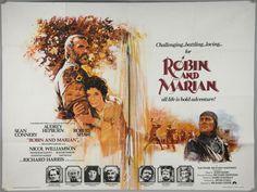robin and marian 1976 sean connery audrey hepburn robert shaw uk quad poster Richard Lester, Robert Shaw, Sean Connery, Quad, Movies, Films, Movie Posters, Image, Musketeers