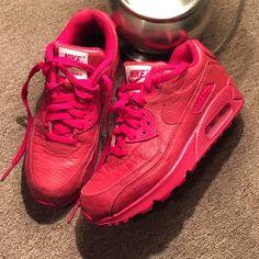 Nike air max 90 Custom made(NikeiD) all red (croc) nike air max Nike Shoes