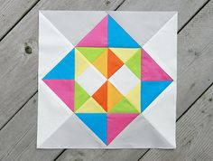 Diamond Mine Quilt Block by Fresh Lemons from the Quiltmaker's 100 blocks magazine