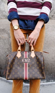 Monogramed Speedy... It *will* happen. Oh yes, I don't much care for the monogram but if I'm going to have a designer handbag it will be a Louis Been in love for years,,secretly of course.