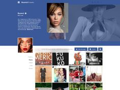 Beyoncé designed by Naim Chayata. Connect with them on Dribbble; Facebook Artist Page, Web Ui Design, Ui Design Inspiration, Beyonce Knowles, Timeline Photos, Concept