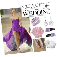 Fab Purple for a Seaside Wedding by sasikewl on Polyvore featuring Skinnydip, Swarovski, Bling Jewelry, OPI, Privilege, eveningdress, bandagedress and seasidewedding