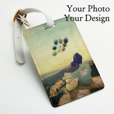 Personalised custom made pu leather Luggage Tag Office Tag bag tag wedding favor by BeanBeanCase, $8.49