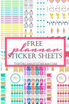 Free Planner Stickers To Help Organize Your Life - The Organized Dream