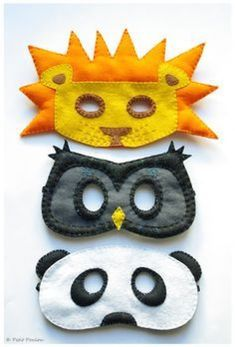 Of Rockstars, Superheroes & Those In Between: Last Minute, Easy DIY Hallowe'en Costumes For Kids -- I especially like the lion mask for my trick or treater. Operation Christmas Child, Kids Crafts, Felt Crafts, Arts And Crafts, Paper Crafts, Sewing Crafts, Sewing Projects, Craft Projects, Diy Halloween