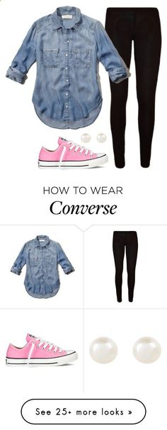 f9420f12d Simple by aweaver-2 on Polyvore featuring Abercrombie Fitch, Accessorize  and Converse Pink Converse