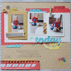 scrapbook page by Sophie Crespy @ shimelle.com