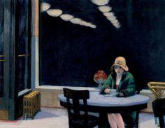 artmastered:  Edward Hopper, Automat, 1927